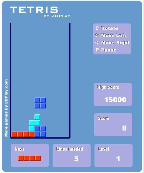 Flashgame - Tetris
